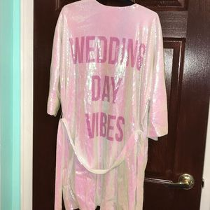 Hayley Paige Wedding Day Vibes Sparkle Robe